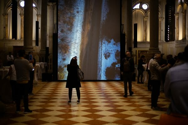 APZmedia's concept for the Oikos presentation at the Scuola di San Rocco in Venice